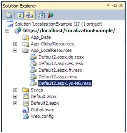 Default local resource file