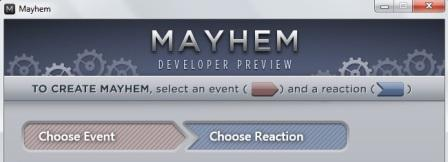 Mayhem Application UI